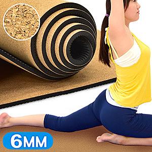 天然軟木TPE環保6MM瑜珈墊.運動墊止滑墊防滑墊遊戲墊野餐墊防潮墊子地墊床墊睡墊避震墊推薦