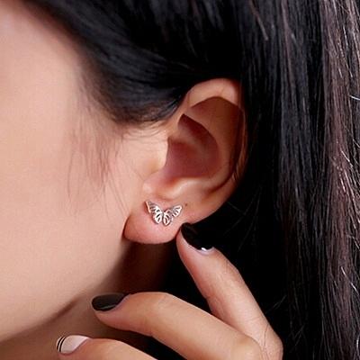 925純銀耳環(耳針式)-時尚蝴蝶生日情人節禮物女飾品73ag331【巴黎精品】
