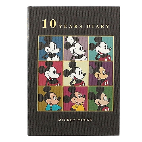 DISNEY 迪士尼米奇90週年紀念版 10年間A5精裝日記本(歷代米奇方格)★funbox★sun-star_UA55958