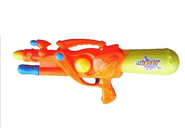 [衣林時尚] 超大氣壓雙噴頭水槍 50cm (顏色隨機出)
