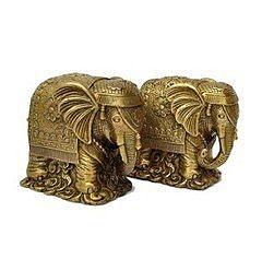 開光黃銅 銅大象擺件(一對)