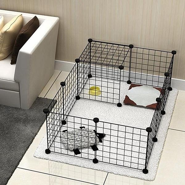 組合寵物圍欄鐵網柵欄桿小寵中型犬 cf