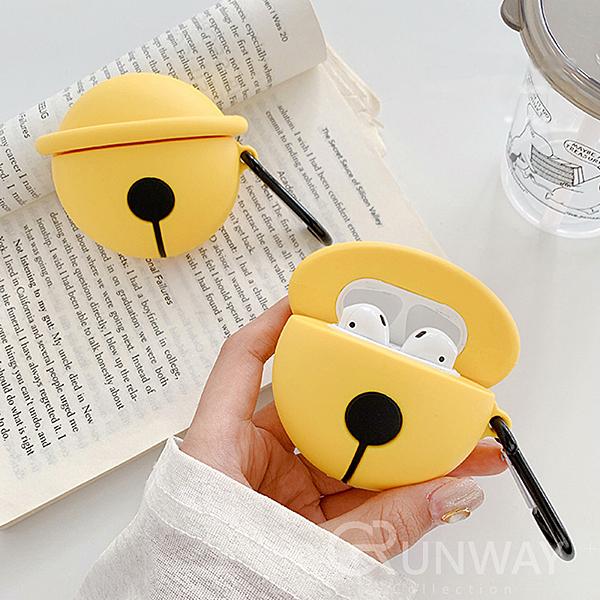 黃鈴鐺 Airpods pro / Airpods2 蘋果耳機 創意 可愛 矽膠保護套 附掛勾 防摔套 軟殼 收納盒 耳機盒外殼