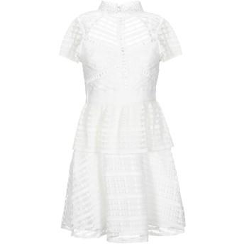 《セール開催中》BY MALINA レディース ミニワンピース&ドレス ホワイト S ポリエステル 100%