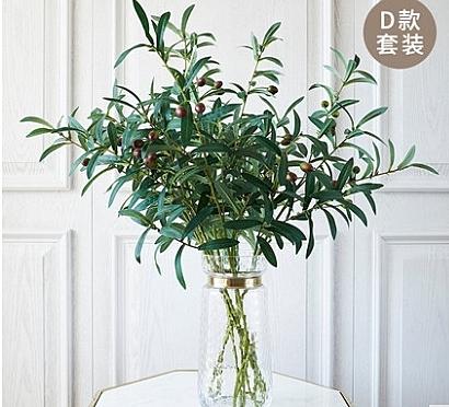 現代簡約客廳餐桌模擬盆景假花套裝家居裝飾品模擬花藝套裝擺件 -Iss