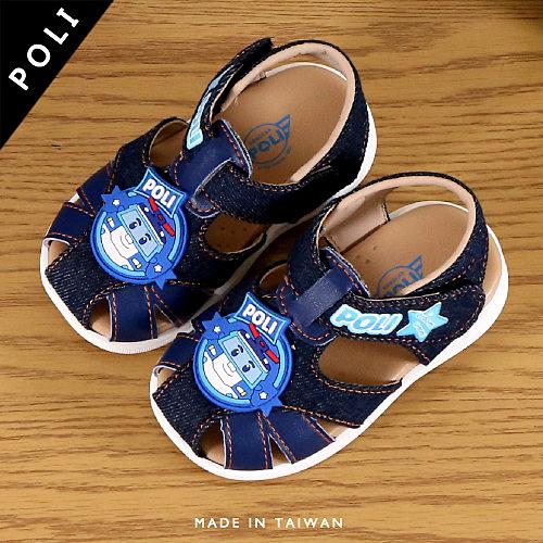 男女童 2019年 POLI 救援小英雄波力安寶 魔鬼氈 涼鞋 學歩鞋 寶寶鞋 嬰兒鞋 MIT製造 59鞋廊