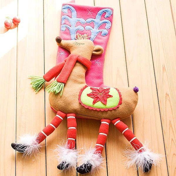 超可愛聖誕襪 聖誕節裝飾品 禮物袋 禮品( 魅惑美腿鹿/魅惑美腿狐狸 )