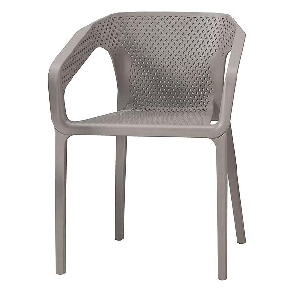 【森可家居】伊達休閒椅(灰)(單只) 8CM1041-9 餐椅 洽談椅