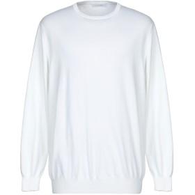 《セール開催中》CRUCIANI メンズ プルオーバー ホワイト 56 コットン 100%