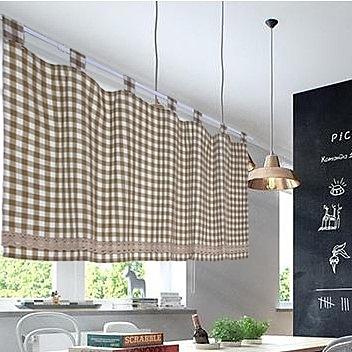 可愛時尚棉麻門簾48 廚房半簾 咖啡簾 窗幔簾 穿杆簾 風水簾 (140*45cm)