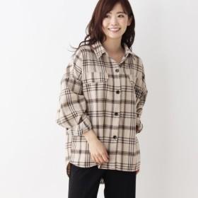 [マルイ] 起毛チェックシャツジャケット/シューラルー(レディス)(SHOOLARUE Ladies)