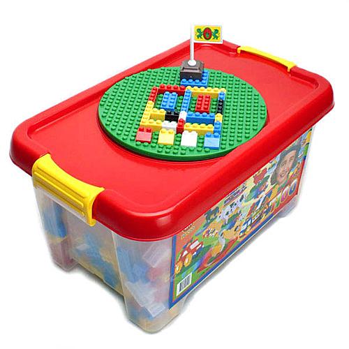 《 OK-821 》大收納箱益智基本顆粒積木組 1100 pcs╭★ JOYBUS玩具百貨