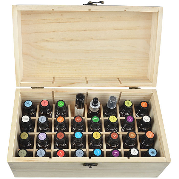 精油盒 32格精油收納木盒 15ML盒子精油doterra木製箱瑞特收納盒木箱加厚 暖心生活館