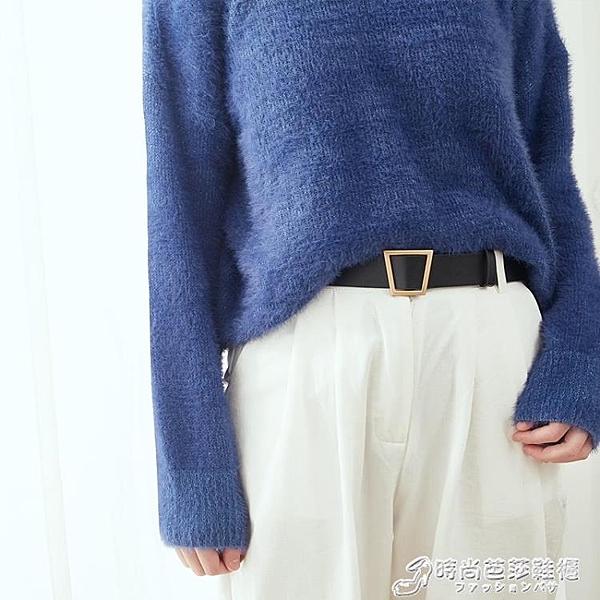 腰帶 ins皮帶女簡約百搭韓國無孔chic原宿風牛仔褲褲帶潮流裝飾寬腰帶 時尚芭莎