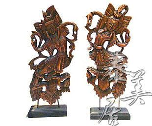 工藝品 家居擺設 木雕擺件原木舞者
