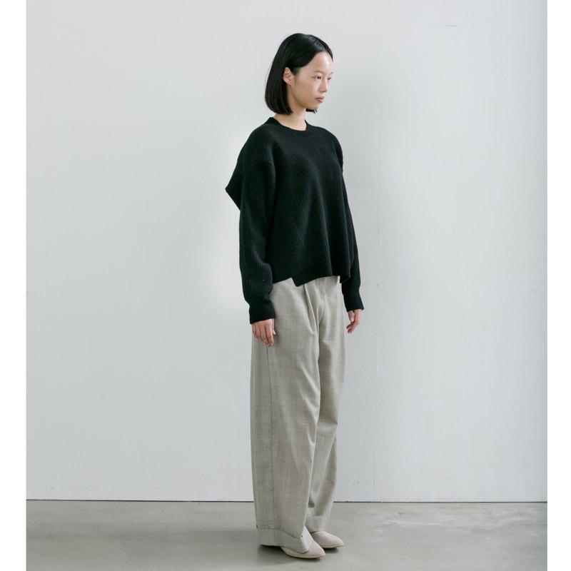 牛角立釦反摺褲