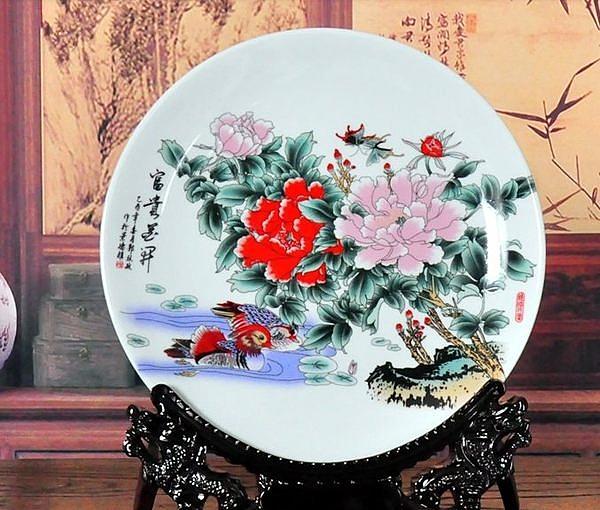景德鎮瓷器家居裝飾盤子陶瓷盤