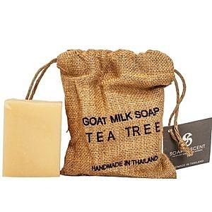 ThaiScent泰香 麻布袋茶樹山羊奶手工皂270g