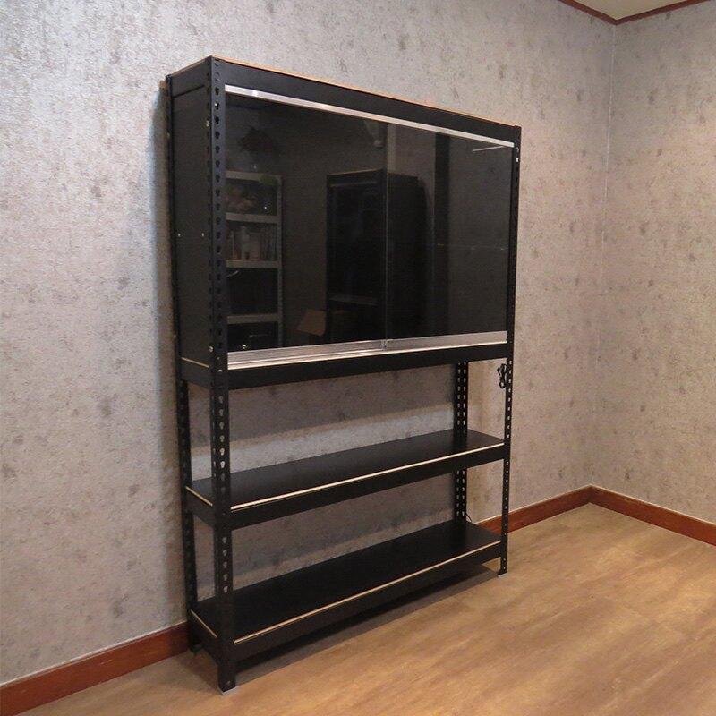 MIT台灣製 玻璃展示櫃 免螺絲角鋼收納架  達人型模型櫃 公仔櫃 (120x30x180cm)空間特工 【DOB4165】