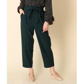Couture Brooch(クチュールブローチ) 【WEB限定プライス/手洗い可】リボンツイルテーパードパンツ