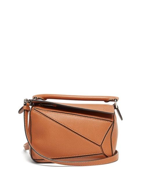 Loewe - Puzzle Mini Grained-leather Cross-body Bag - Womens - Tan