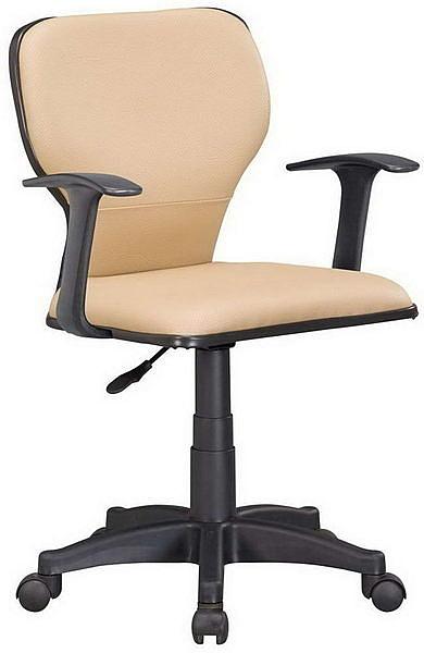 HP381-08 辦公椅ST-01C/米白皮/氣壓升降