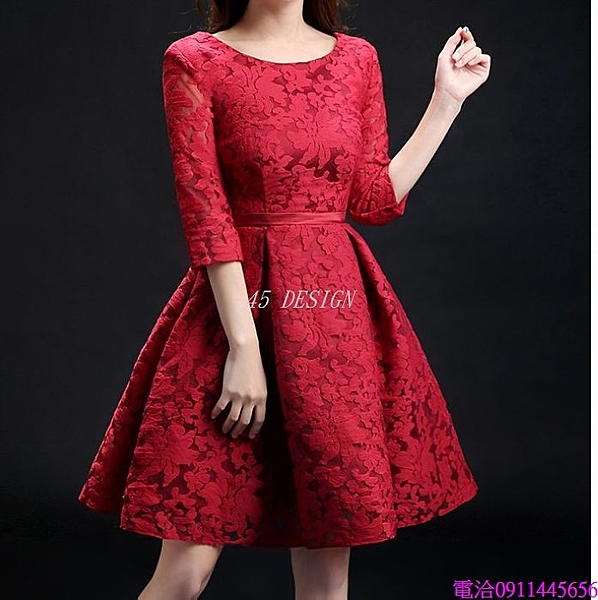 (45 Design)  7天到貨可 能訂製大碼小禮服 伴娘團禮服短款姐妹裙伴娘服伴娘裙畢業晚禮服1