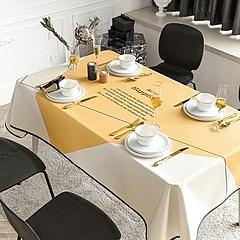 時尚可愛空間餐桌布 茶几布 隔熱墊 鍋墊 杯墊 餐桌巾653 (85*85cm)
