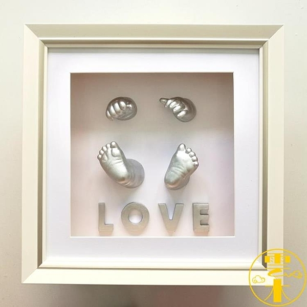 嬰兒手膜腳膜3D立體腳印手印紀念品彌月胎毛臍帶保存盒【雲木雜貨】