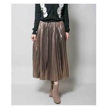 ミリオンカラッツ Million Carats 【STYLE4】メタルプリーツスカート (ブラウン)