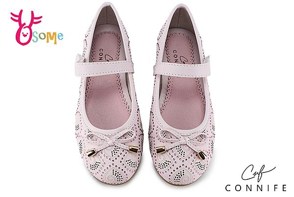 CONNIFE 娃娃鞋 中童 心花朵朵開 表演 氣質 花童小公主 C2498#粉紅◆OSOME奧森鞋業