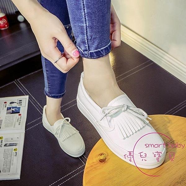 帆布鞋  白鞋女夏季新品百搭小白鞋正韓一腳蹬厚底女鞋學生平底懶人鞋 【快速出貨】