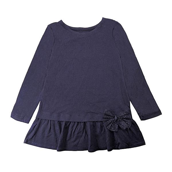 女童長袖上衣 蝴蝶結裙擺衣服 黑色 | Oshkosh童裝 (兒童/小孩/小朋友/幼童/小童/孩童/寶寶)