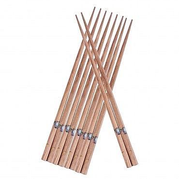 HOLA 棕色貓頭鷹木筷5入袋裝