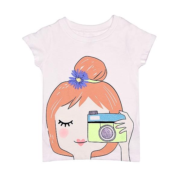 女童短袖上衣 T恤衣服 白相機 | Carter s卡特童裝 (兒童/小孩/小朋友/幼童/小童/孩童/寶寶)
