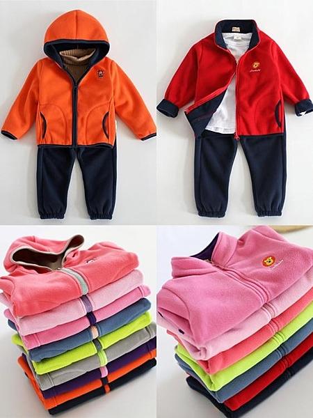 兒童搖粒絨外套春春季童裝男童小童2020新款女童上衣抓絨衛衣