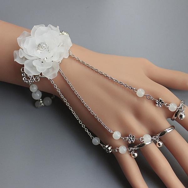 古風飾品一體式手鍊手鐲帶戒子指環