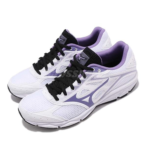 Mizuno 慢跑鞋 Maximizer 21 Wide 白 紫 網布 透氣輕量 女鞋 運動鞋【ACS】 K1GA1901-68