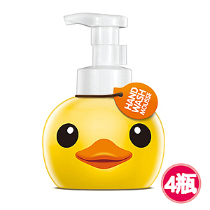 【快潔適】小黃鴨抗菌洗手慕絲-甜蜜厞香400ml*4
