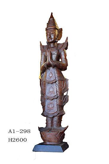 泰式木雕  工藝品擺件 站佛