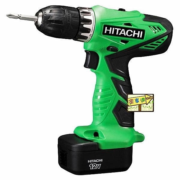 [家事達] 日立 HITACHI --充電式起子電鑽機--DS12DVC(12V)  特價 ★22段扭矩調定★可正逆轉★可變速度