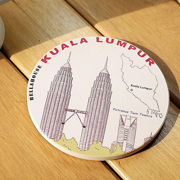 神奇吸水杯墊~吉隆坡 雙子塔
