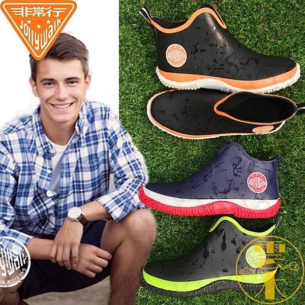 雨鞋男防水低筒時尚水鞋防滑雨靴膠鞋短筒【雲木雜貨】
