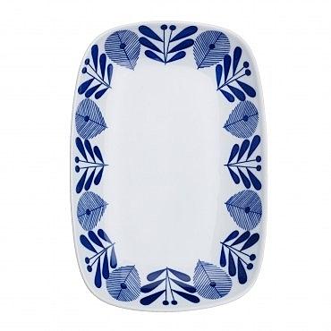 日本藍楓林輕量長方盤 25cm