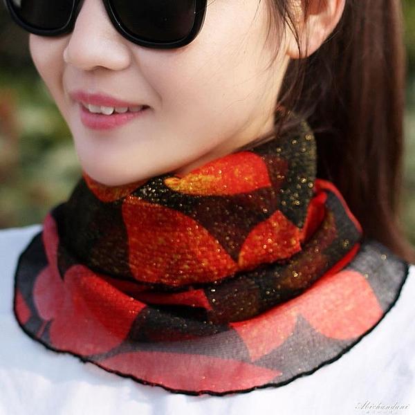 防曬圍脖女薄新款騎車百搭冰絲小絲巾拼接套頭假領子護頸圍巾 黛尼時尚精品