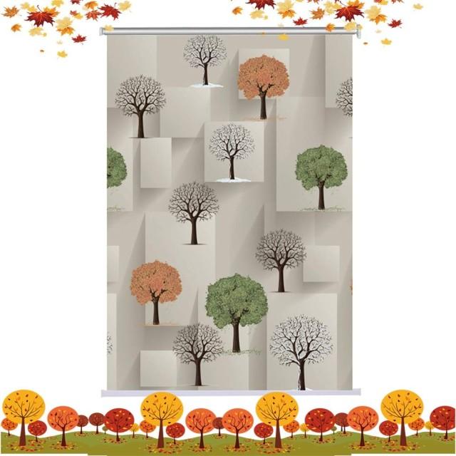 RZEMIN 停電 ローラーブラインド 小さな木 工場 ナチュラル 窓 シェード POM ビーツ リフティング 防水 プライバシー保護 屋内 装飾品、 カスタムサイズ (Color : A, Size : 50cmx150cm)