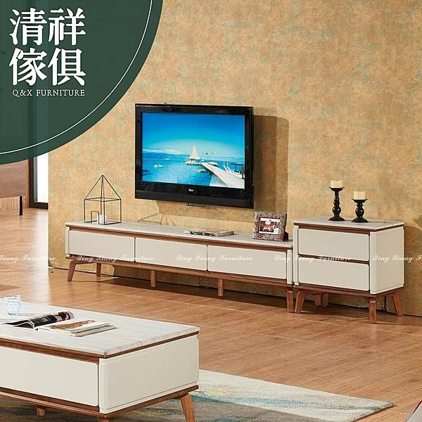 【新竹清祥傢俱】PLF-12LF77-現代時尚大理石電視櫃 客廳 置物櫃 推薦 收納櫃 電視櫃 雙色造型