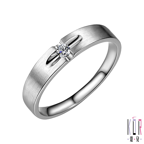 K'or蔻兒 愛的信仰 鑽石女戒指-0.05克拉