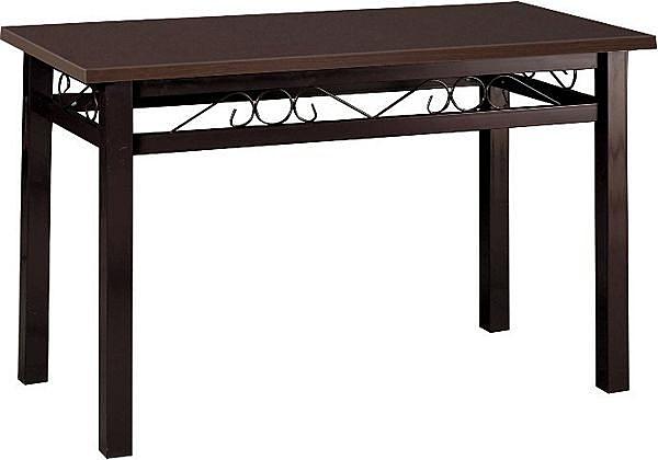 HY-Y331-1  4X2.5尺富貴方管餐桌(鐵刀木心板/咖啡腳)