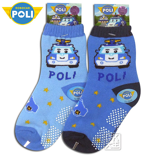 POLI 波力止滑童襪 PL-S2201B ~DK襪子毛巾大王